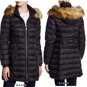 Kate Spade Faux Fur Quilted Puffer Coat